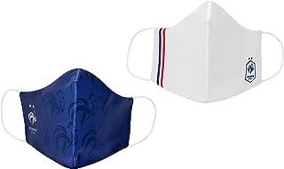 Equipe de FRANCE de football 2 x Masque Anti Projections Réutilisable Lavable FFF - Collection Officielle