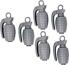 Fake Toy Grenade Prop | Toy Grenades 6 Pack Silver