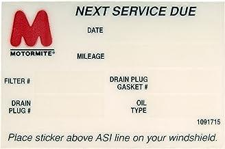 DORMAN 65287 Oil Change Service Reminder Sticker, Pack of 6