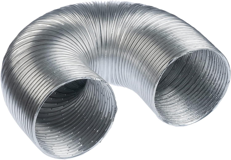 Tubo flexible de aluminio de 125 mm de diámetro, 1,5 m