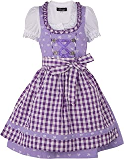 Ramona Lippert Kinderdirndl Chrissi, lila - 3-teiliges Trachtenkleid Dirndl für Mädchen