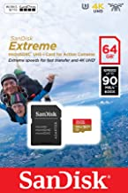 SanDisk Extreme microSDXC for Action Sports Cameras Memory Card MB s  Class 10  U3  V30