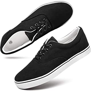 yageyan Men's Low Top Canvas Walking Shoes Lace-up Fashion Sneakers Casual