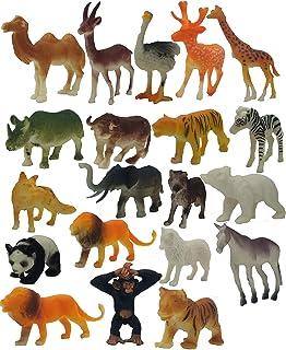 SaleOn 20pc Wildlife Model Children Puzzle Early Education Gift Mini Jungle Animal Toy Set Realistic Animal Figures Toys f...