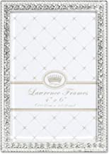 Lawrence Frames 4x6 Sarah Silver Metal Crystal Picture Frame