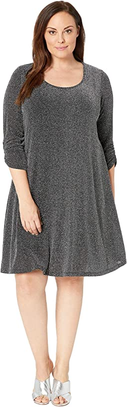 Plus Size Silver Metallic Taylor Dress