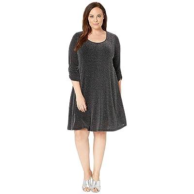 Karen Kane Plus Plus Size Silver Metallic Taylor Dress (Silver) Women