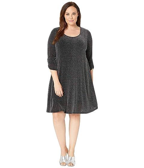 ee5d9934f9c Karen Kane Plus Plus Size Silver Metallic Taylor Dress at Zappos.com