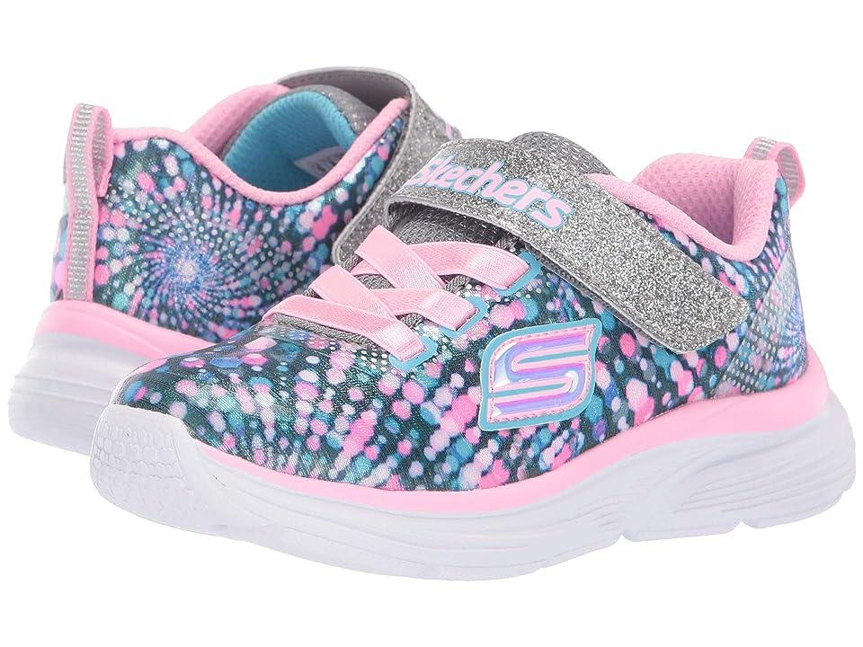 SKECHERS KIDS Wave Lites (Toddler) (Charcoal/Multi) Girl