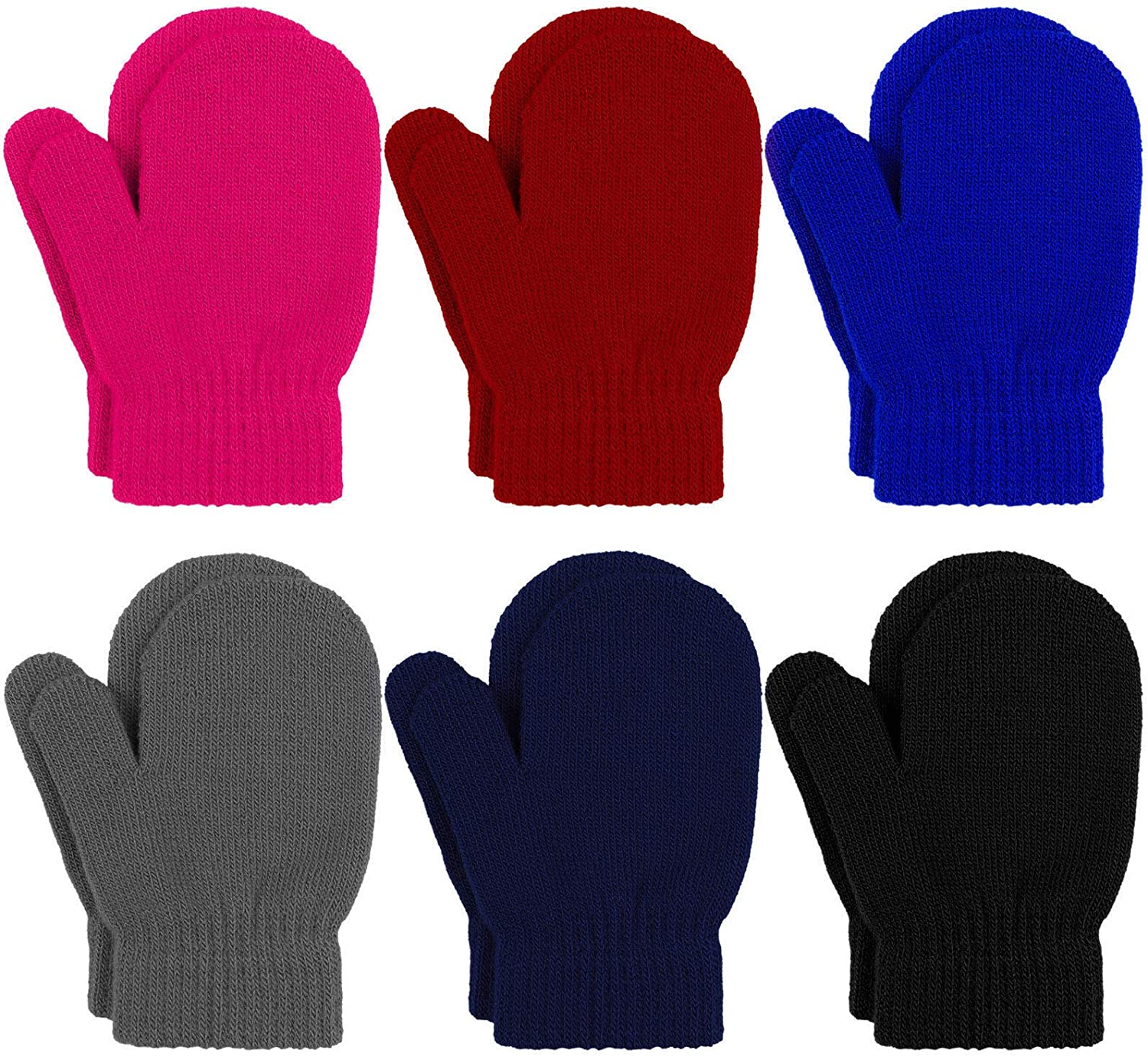 Industry No. 1 In stock URATOT 6 Pairs Toddler Knitted Wint Stretch Mittens Magic Gloves