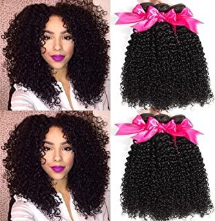 Hermosa 10A Brazilian Curly Hair 3 Bundles 12 14 16inch Good Quality Curly Weave Human..