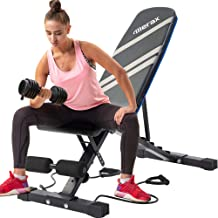 Merax Utility Weight Bench 800 LBS Capacity Adjustable Workout Bench for Weight Training, Full Body Workout