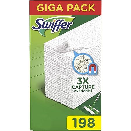 Swiffer Chiffons de rechange pour balai, pour attraper et capturer 3 fois plus de poussière, saleté et poils qu'un balai traditionnel 198 Unità vert