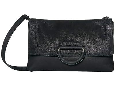 Lucky Brand Kiki Clutch (Black Metall) Handbags