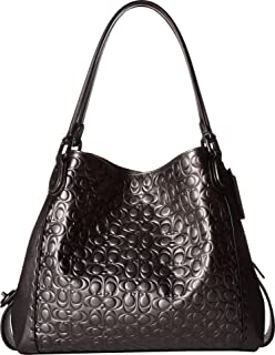 135f240f8190 COACH Womens Metallic Signature Leather with Border Rivets Edie 31 Shoulder  Bag