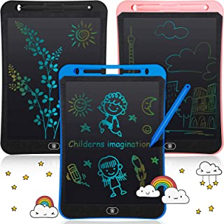 Zonon 3 Packs LCD Writing Drawing Tablet Colorful Electronic Doodle Tablet Drawing (Blue, Light Pink, Dark)