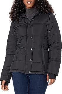 Women's Heavy-Weight Long-Sleeve Full-Zip Hooded Puffer Coat