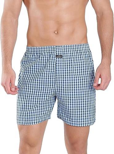 Men s Cotton Boxers Pack of 2 1222 0210 ASSTD Boxer Shorts L
