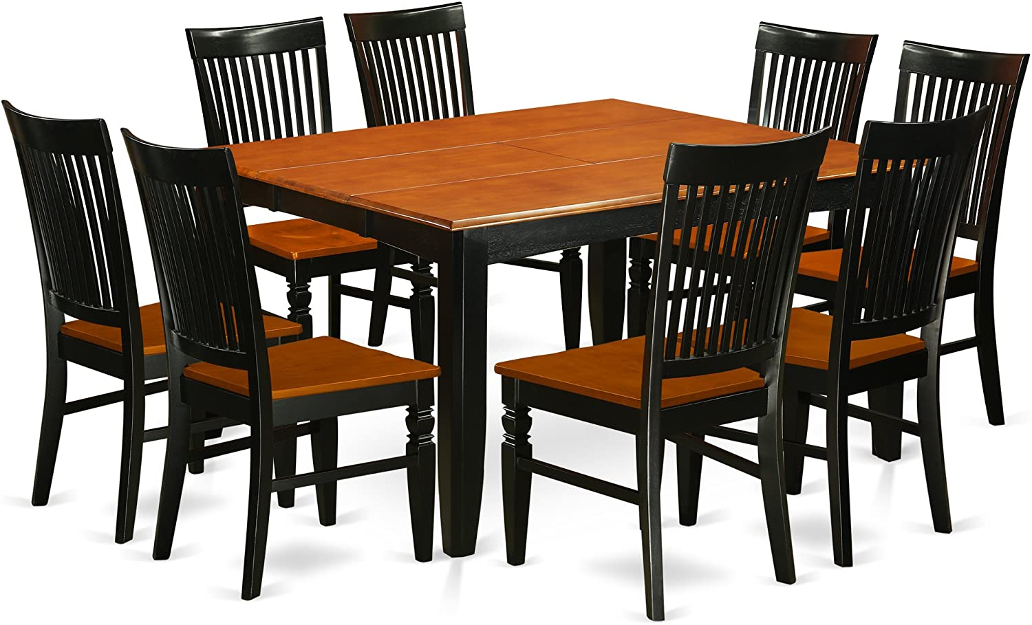 Buy 9 Pc Kitchen table set with a Dining Table and 9 Wood Seat ...