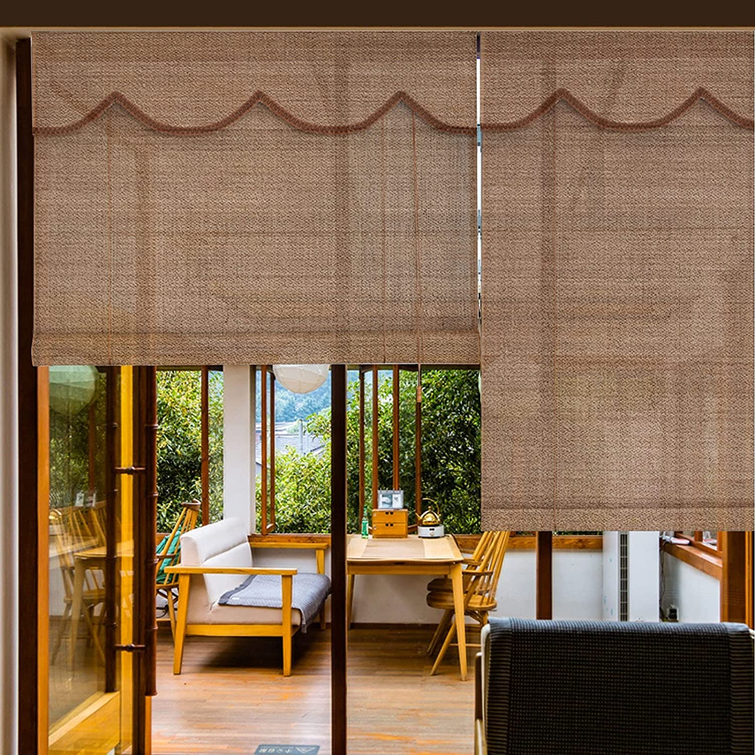 Bamboo Shade Retro Free Shipping New Curtain Blinds Natural - Max 72% OFF Roller