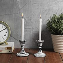Vintage Modern Decorative Centerpiece for Table Mantel Wedding Housewarming Gift Black Candlestick Holder Set Ardour Set of 3 Candle Stick Holders Set