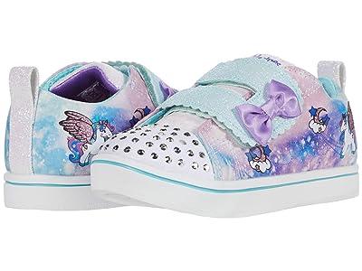 SKECHERS KIDS Twinkle Toes Sparkle Rayz Unicorn Moondust 314844N (Toddler) (White/Multi) Girl