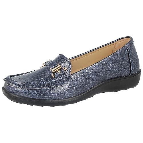 546eeada Jo & Joe Womens Flats Snakeskin Print Deck Boat Loafers Moccasins Driving  Shoes Size 3 4