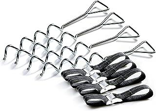 Salta Trampoline Unisex ungdomsstudsmatta Monteringssats: 4 balacrokar i spriralkonstruktion, silver, 30,48 cm