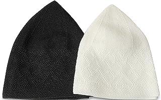 مجموعة من 2 قبعة متماسكة تحت الخوذة، قبعة صغيرة الجمجمة تاكي، للجنسين t ndoor قبعة النوم لفقدان الشعر، قبعة Peci Tukısh Ku...