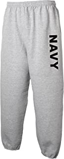 Navy Sweat Pants - Military Style Physical Training Sweat Pants in Gray - Medium