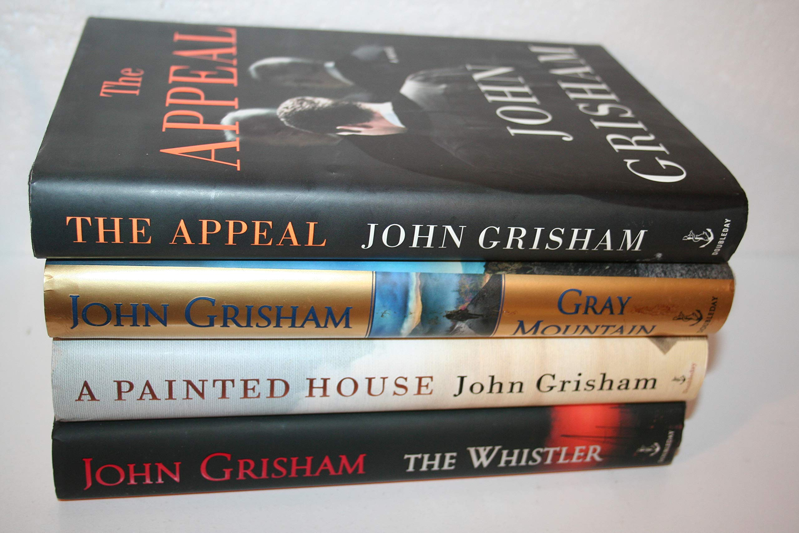 John Grisham 4-title, 1st Edition Sampler [[A Painted House(2000) ; The Whistler(2016) ;Gray Mountain(2014) ;The Appeal(2007) ]]