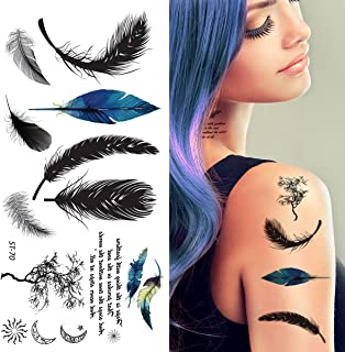 Best temporary feather tattoo Reviews