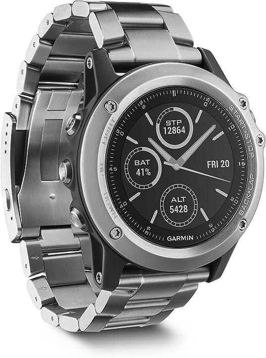 Garmin fenix 3 sapphire edition titanium multi-sport training, smartwatch gps, titanio 010-01338-41