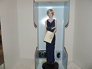 Diana Princess of Wales Porcelain Portrait Doll By the Franklin Mint Princess Di