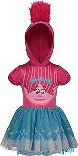 DreamWorks Trolls Poppy Hooded Costume Short Sleeve Dress Pink