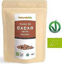 Fave di Cacao Crudo Biologico da 1kg   100% Bio, Naturale e Puro   Prodotto in Perù dalla Pianta Theobroma Cacao   Superfood Ricco di Antiossidanti, Minerali e Vitamine   NaturaleBio