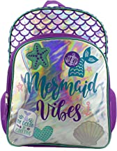 Iridescent Mermaid Girls School Backpack Bag (One Size, Purple/Blue)