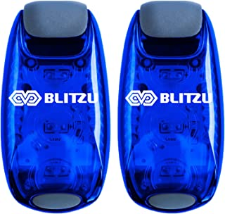 BLITZU Cyborg LED Safety Light 2 Pack + Free Bonuses - Clip On Running Lights for Runner, Kids, Joggers, Bike, Dogs, Walking The Best Accessories for Your Reflective Gear, Nighttime, Bicycle Cycling