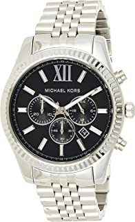 Michael Kors Mens Quartz Watch, Chronograph Display and Stainless Steel Strap MK8602