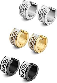گوشواره های حلقه ای از جنس استنلس استیل جواهلی Jstyle برای گوشواره های زنان Huggie گوشواره های منحصر به فرد یونانی