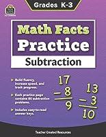 Math Facts Practice: Subtraction - Grades K-3