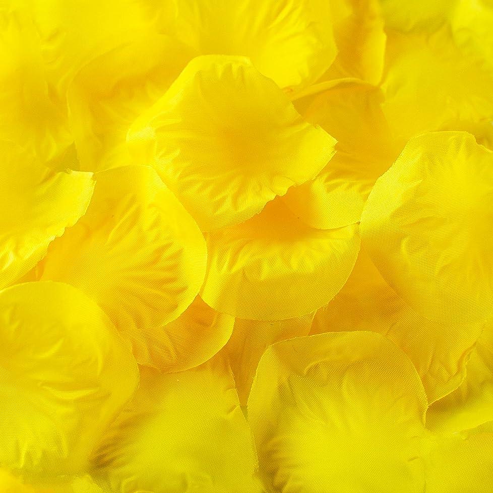 ウミウシバイオリニストゴルフ(Yellow) - Silk Fabric Flower Mini Rose Petals for Weddings (1000 Pieces) (Yellow)