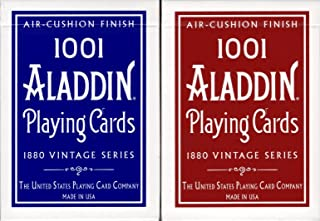 1001 Aladdin Dome Back Playing Cards USPCC Air-Cushion Finish (2 Deck Set)