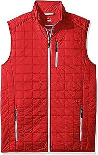 Cutter & Buck mens Weather Resistant Primaloft Down Alternative Rainier Vest