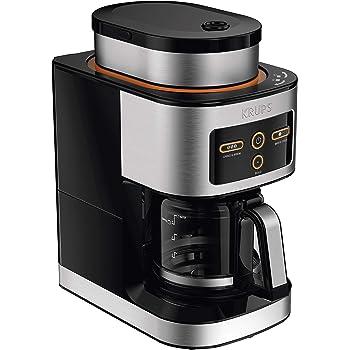 KRUPS KM550D50 Personal Café Grind Drip Maker Coffee Grinder, 4 cups, Silver
