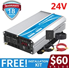 2000W Power Inverter DC 24 Volt to AC 110 120 Volt with Remote Control & LED Display and USB Port for RV Truck Boat