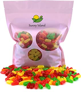 Sunny Island Bulk - Mike Ike Original Fruits Flavored Chewy Candy, Jelly Candy Sticks, Fat-free, 2 Pounds Bag