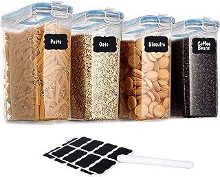 Lot de 4 grandes boîtes de conservation en plastique 4l Anti-fuite Sans BPA Hermétique Pour les voyages les collations la ...