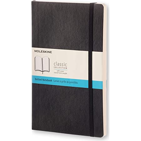 """Moleskine Classic Notebook, Soft Cover, Large (5"""" x 8.25"""") Dotted, Black, 240 Pages"""