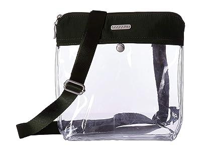 Baggallini Legacy Stadium Bags Clear Pocket Crossbody (Deep Green) Cross Body Handbags